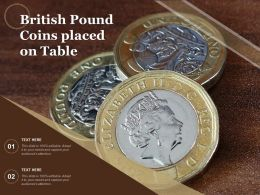 British Pound Coins Placed On Table