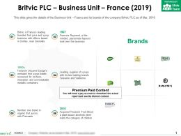 Britvic Plc Business Unit France 2019