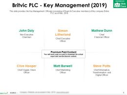 Britvic Plc Key Management 2019