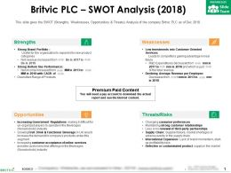 Britvic Plc Swot Analysis 2018