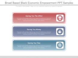 Broad Based Black Economic Empowerment Ppt Samples