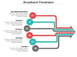 Broadband Penetration Ppt Powerpoint Presentation File Themes Cpb