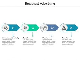 Broadcast Advertising Ppt Powerpoint Presentation Gallery Deck Cpb