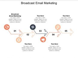 Broadcast Email Marketing Ppt Powerpoint Presentation File Gallery Cpb