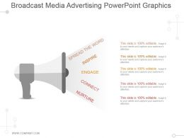 Broadcast Media Advertising Powerpoint Graphics