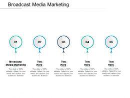 Broadcast Media Marketing Ppt Powerpoint Presentation Icon Format Ideas Cpb