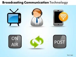 Broadcasting Communication Technology Powerpoint Slides And Ppt Templates DB