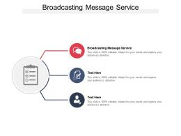 Broadcasting Message Service Ppt Powerpoint Presentation Infographics Mockup Cpb