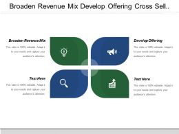 Broaden Revenue Mix Develop Offering Cross Sell Product Line
