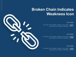 Broken Chain Indicates Weakness Icon