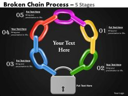 41525223 Style Variety 1 Chains 5 Piece Powerpoint Presentation Diagram Infographic Slide