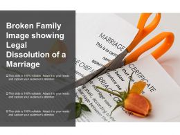 Broken Family Image Showing Legal Dissolution Of A Marriage