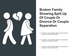 Broken Family Showing Split Up Of Couple Or Divorce Or Couple Separation