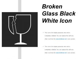 Broken Glass Black White Icon