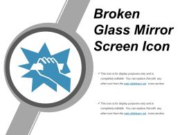 Broken Glass Mirror Screen Icon