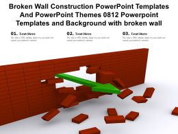 Broken Wall Construction Templates Themes 0812 Powerpoint Templates And Background With Broken Wall