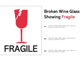 Broken Wine Glass Showing Fragile