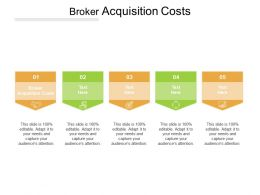 Broker Acquisition Costs Ppt Powerpoint Presentation Inspiration Icons Cpb