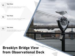 Brooklyn Bridge View From Observational Deck