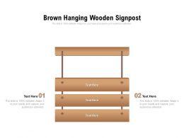 Brown Hanging Wooden Signpost