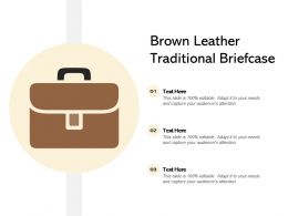 Brown Leather Traditional Briefcase