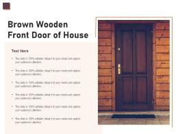 Brown Wooden Front Door Of House
