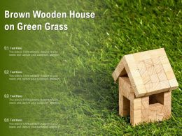 Brown Wooden House On Green Grass