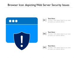 Browser Icon Depicting Web Server Security Issues