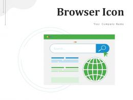 Browser Icon Internet Search Representing Smartphone Indicating