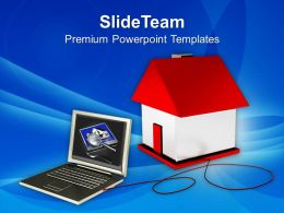 Browsing Through Internet Real Estate PowerPoint Templates PPT Themes And Graphics 0213