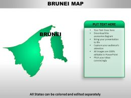 Brunei Country Powerpoint Maps