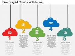 bs Five Staged Clouds With Icons Flat Powerpoint Design