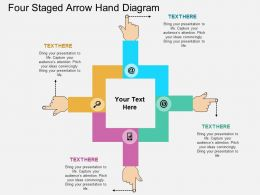 bs Four Staged Arrow Hand Diagram Flat Powerpoint Design