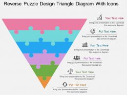 bs Reverse Puzzle Design Triangle Diagram With Icons Flat Powerpoint Design
