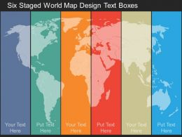 bs Six Staged World Map Design Text Boxes Flat Powerpoint Design