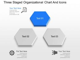 bs Three Staged Organizational Chart And Icons Powerpoint Template
