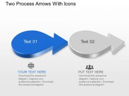 Bs Two Process Arrows With Icons Powerpoint Template