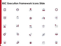 BSC Execution Framework Icons Slide Ppt Powerpoint Presentation File Icon