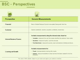 BSC Perspectives Ppt Powerpoint Presentation Visual Aids Backgrounds