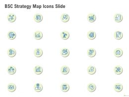 BSC Strategy Map Icons Slide Ppt Powerpoint Presentation File Aids