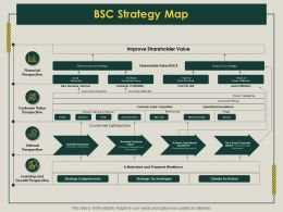BSC Strategy Map Prepared Workforce Ppt Powerpoint Presentation Visual Aids Infographics
