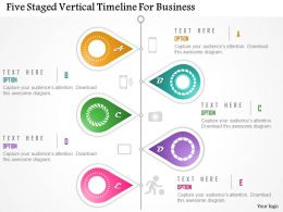 Bt Five Staged Vertical Timeline For Business Powerpoint Template