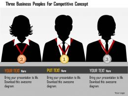 Bt Three Business Peoples For Competitive Concept Powerpoint Templets