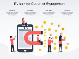 BTL Icon For Customer Engagement