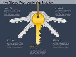 bu_five_staged_keys_leadership_indication_flat_powerpoint_design_Slide01