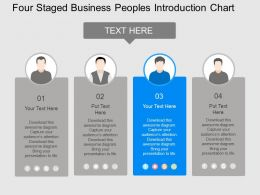 bu Four Staged Business Peoples Introduction Chart Flat Powerpoint Design