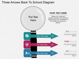 bu Three Arrows Back To School Diagram Flat Powerpoint Design