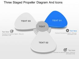 bu Three Staged Propeller Diagram And Icons Powerpoint Template