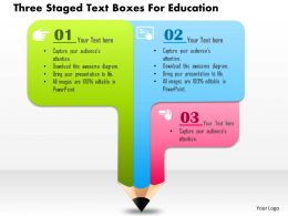 Bu Three Staged Text Boxes For Education Powerpoint Templets