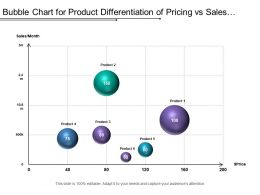 Bubble Chart For Product Differentiation Of Pricing Vs Sales Record Of Current Year